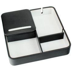 Valet de rangement, Dulwich, cuir doublé blanc Dulwich Designs Ecrins
