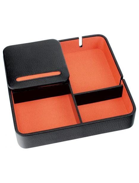 Valet de rangement, Dulwich, cuir doublé orange Dulwich Designs Ecrins