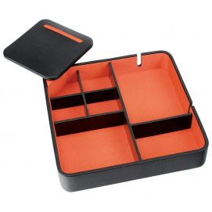 Valet de rangement, Dulwich, cuir doublé orange
