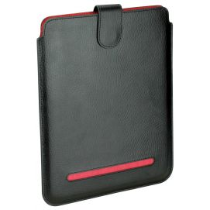 Etuis Noir/rouge cuir Ipad 1,2 et 3, Dulwich