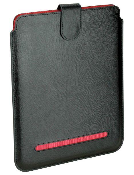 Etuis Noir/rouge cuir Ipad 1,2 et 3, Dulwich Dulwich Designs Etuis Tablettes