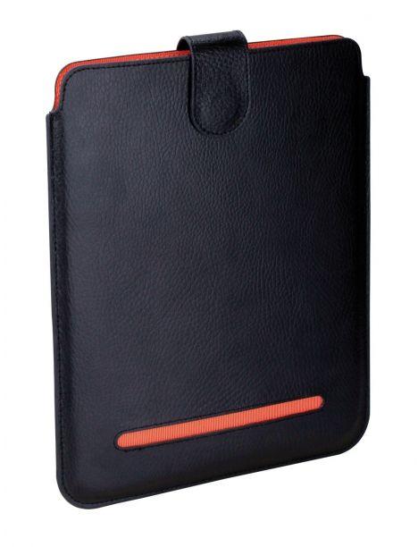 Etuis Noir/orange cuir Ipad 1,2 et 3, Dulwich Dulwich Designs Etuis Tablettes