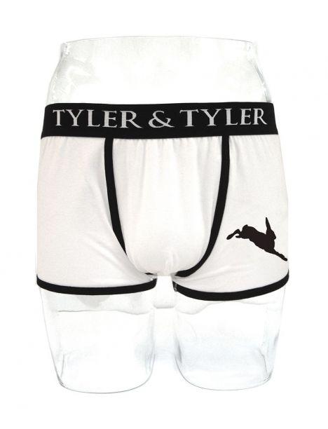 Boxer homme blanc, lièvre Noir Tyler & Tyler Boxers Homme