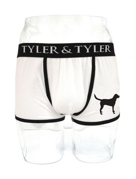 Boxer homme blanc, labrador noir Tyler & Tyler Boxers Homme