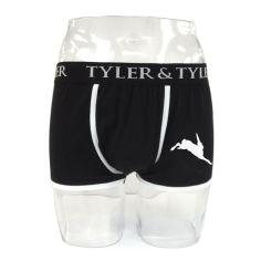 Boxer homme noir, lièvre blanc Tyler & Tyler Boxers Homme