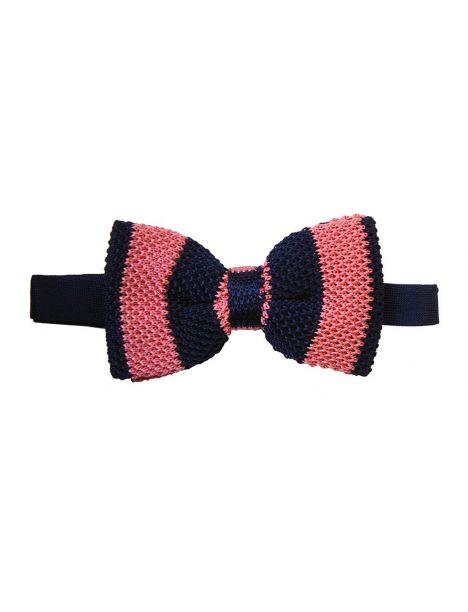 noeud papillon tricot soie club marine et rose tyler tyler noe. Black Bedroom Furniture Sets. Home Design Ideas