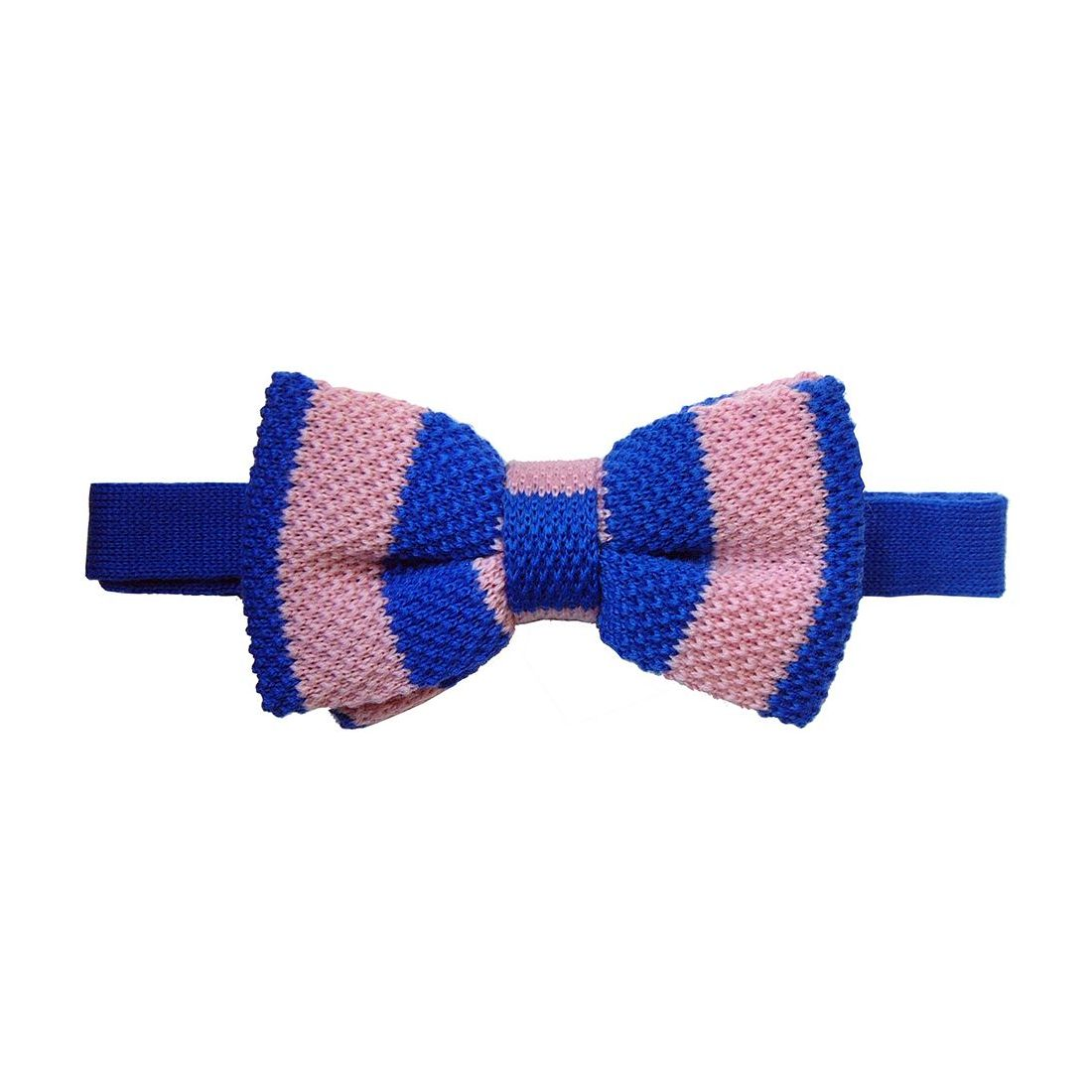 noeud papillon tricot laine club bleu et rose tyler tyler noeu. Black Bedroom Furniture Sets. Home Design Ideas