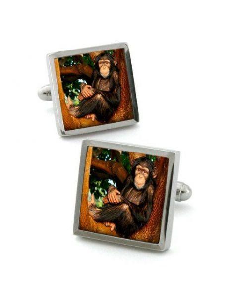 bouton de manchette robert charles chimpanz robert. Black Bedroom Furniture Sets. Home Design Ideas