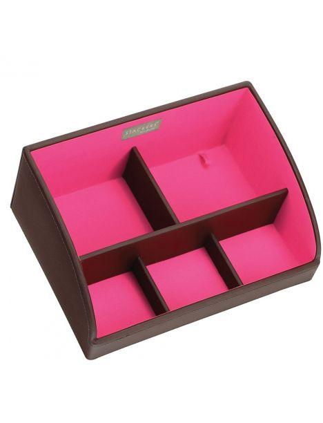 Rangement empilable stacker, Module 1 rose choco haut Stackers UK Ecrins