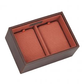 Plateau empilable montres stacker, Module4 Mini marron-orange, Stackers UK Ecrins