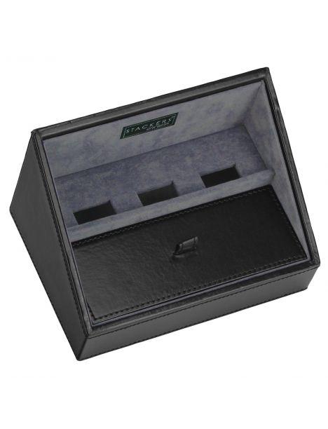 Plateau empilable valet stacker, Module1 Mini Noir exécutif, Base de charge Stackers UK Ecrins