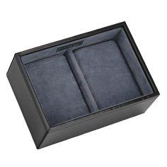 Plateau empilable montres stacker, Module4 Mini Noir exécutif, Stackers UK Ecrins