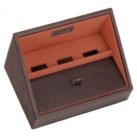 Plateau empilable valet stacker, Module1 Mini marron-orange, Base de charge Stackers UK Ecrins