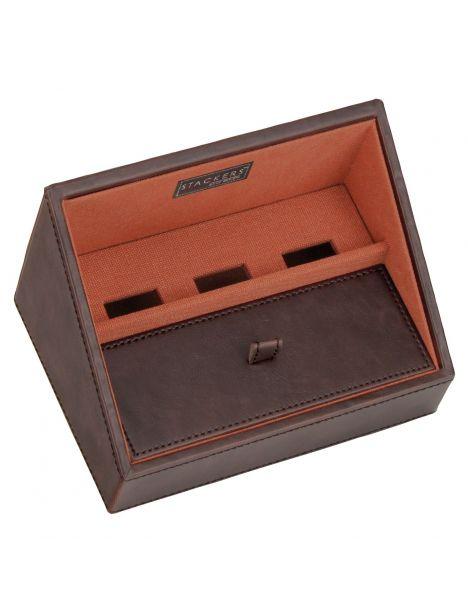 Plateau empilable valet stacker, Module1 Mini marron-orange, Base de charge Stackers UK Ecrins