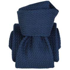 Cravate grenadine de soie, Segni et Disegni, Beverly Bleu