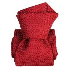 Cravate grenadine de soie, Segni & Disegni, Beverly Rosso