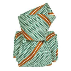 Cravate grenadine de soie, Segni & Disegni, Villa vert