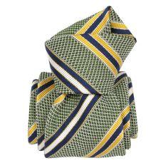Cravate grenadine de soie, Segni & Disegni, club vert Segni et Disegni Cravates