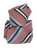 Cravate grenadine de soie, Segni & Disegni, club vieux rose Segni et Disegni Cravates