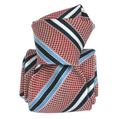Cravate grenadine de soie, Segni & Disegni, club vieux rose