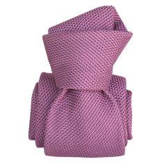 Cravate grenadine de soie, Segni & Disegni, Lucia mauve