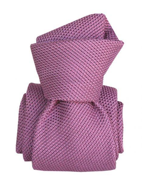 Cravate grenadine de soie, Segni & Disegni, Lucia mauve Segni et Disegni Cravates