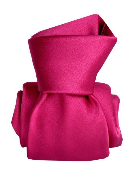Cravate Segni Disegni LUXE, Faite main, Satin Rose Rubino Segni et Disegni Cravates