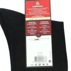 Mi chaussette, fil d'écosse noir. Semelle double