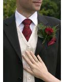Cravate Robert Charles Rose rouge Robert Charles Cravates