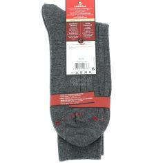 Mi chaussette uni à cotes pur coton, Gris