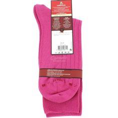 Mi chaussette uni à cotes pur coton, Fuchsia