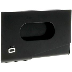Porte-carte de visite alu noir, Ogon Design, One Touch Ogon Designs Porte cartes de visite