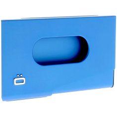 Porte-carte de visite alu bleu, Ogon Design, One Touch