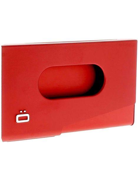 Porte-carte de visite alu rouge, Ogon Design, One Touch Ogon Designs Porte cartes de visite