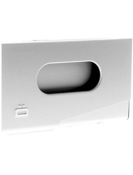 Porte-carte de visite alu gris, Ogon Design, One Touch Ogon Designs Porte cartes de visite