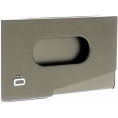 Porte-carte de visite alu gris foncé, Ogon Design, One Touch