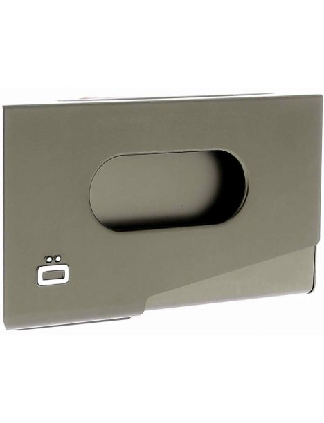 Porte-carte de visite alu gris foncé, Ogon Design, One Touch Ogon Designs Porte cartes de visite