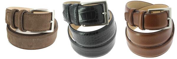 Accessoires d automnes ceintures cuir et daim