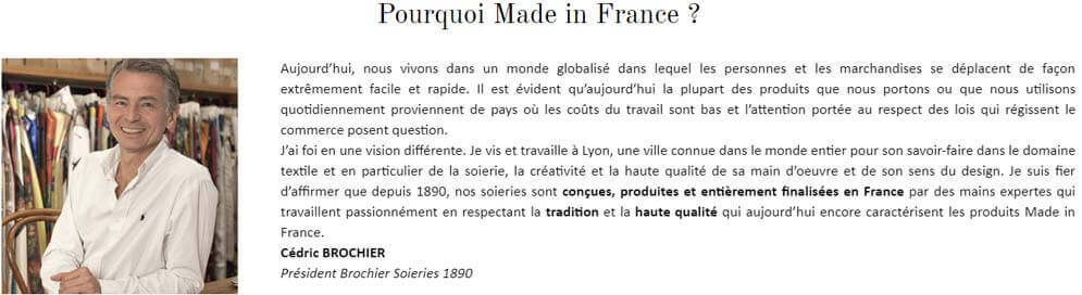 brochier soieries le made in france