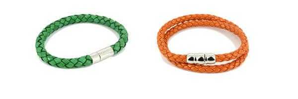 Bracelet Milano Homme Monart, vert et bracelet orange