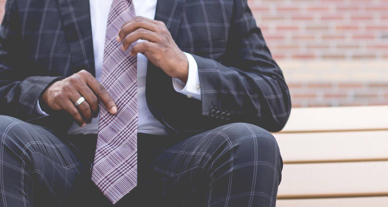cravate classique à rayure homme