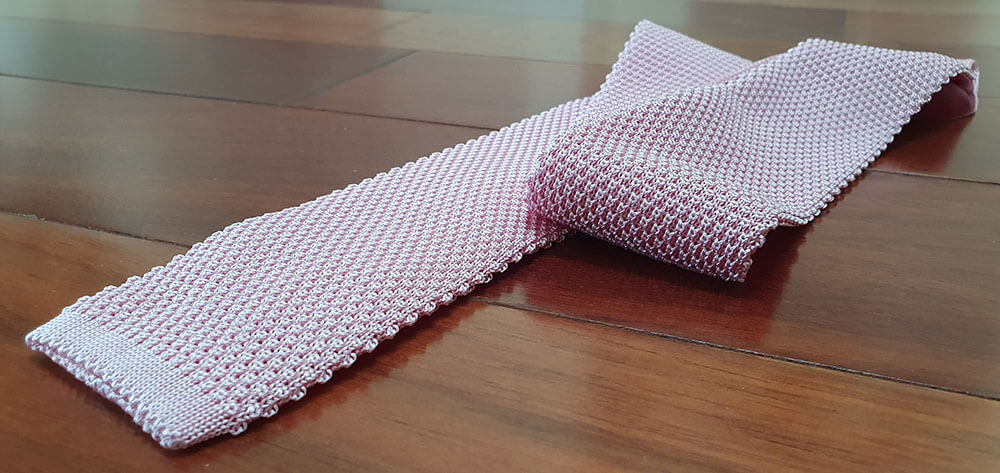 cravate tricot de couleur, unie made in italie