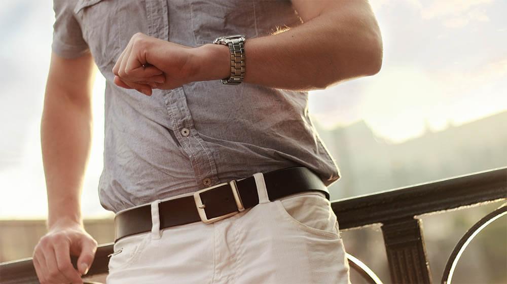 ceinture homme en cuir italien