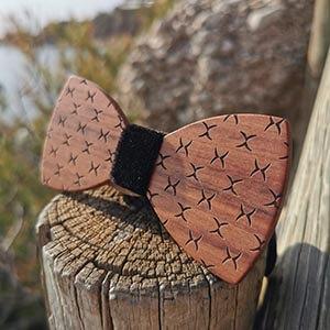 Noeud pap en bois motifs