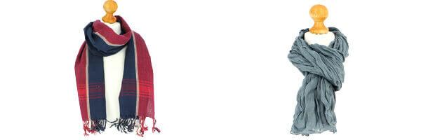 Chèche coton, Navy Rouge et gris