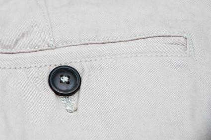 Close up of Chinos pocket - poche de pantalon chinos