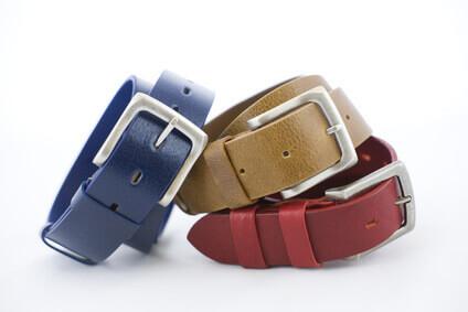 ceintures de cuir de couleur