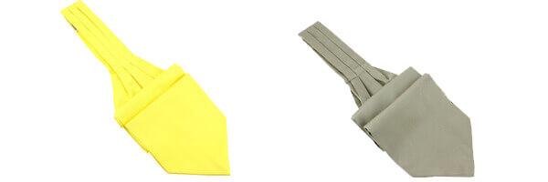 Cravate Ascot en soie, jaune Citron, Fait à la main et lino