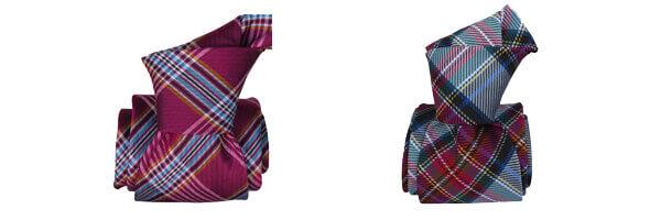 Cravate Classique Segni Disegni, Manshester, Carreaux et boretto bleu