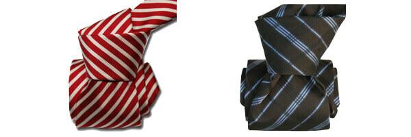 Cravate Classique Segni Disegni, Mogador, Brescia, Rouge ET COVENTRY GRIS